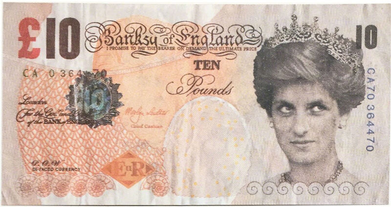 Banksy, 'Di Faced Tenner', 2004, Ephemera or Merchandise, Lithograph, EHC Fine Art Gallery Auction