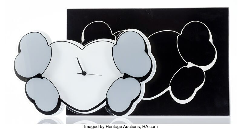 KAWS, 'Hectic x Crossbone Wall Clock Edition 1', 2000, Painting, Screenprint on acrylic, Heritage Auctions