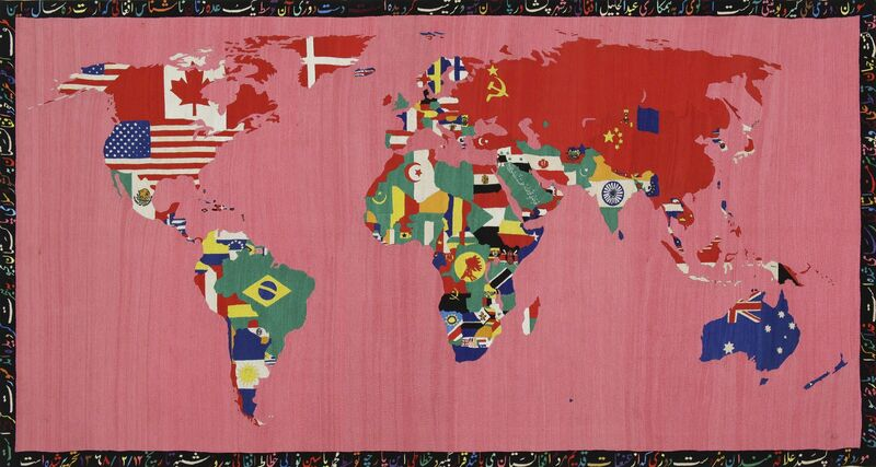 Alighiero Boetti, 'Mappa', 1990-1991, Textile Arts, Embroidery on cotton, Tate Liverpool