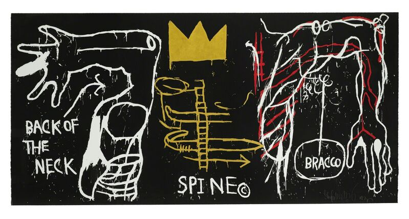 Jean-Michel Basquiat, 'Back of the Neck', 1983, Print, Screenprint with hand coloring, Sotheby's: Contemporary Art Day Auction