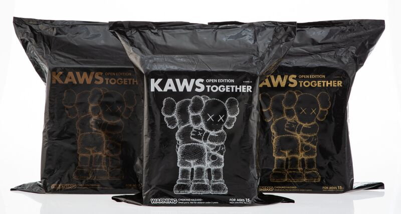 KAWS, 'Together (Brown, Grey, and Black) (set of 3)', 2018, Sculpture, Painted cast vinyl, Heritage Auctions