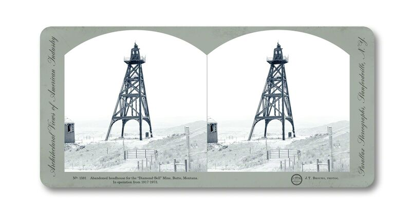 Jeff Brouws, 'Stereograph 1591 (Montana) from American Industrial Heritage Series', 2015, Photography, Archival digital pigment print, Robert Klein Gallery