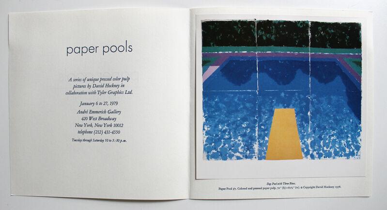 David Hockney, 'Paper Pools invitation', 1979, Print, Offset lithograph invitation, EHC Fine Art Gallery Auction