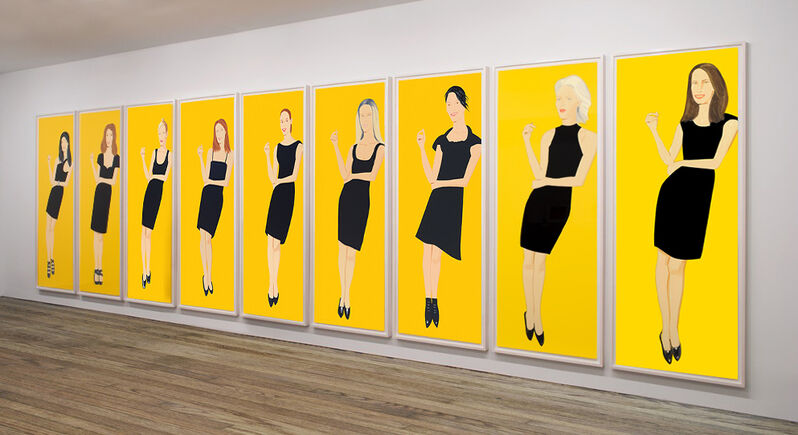 Alex Katz, 'Black Dress, series of 9', 2015, Print, Screenprint, Nikola Rukaj Gallery