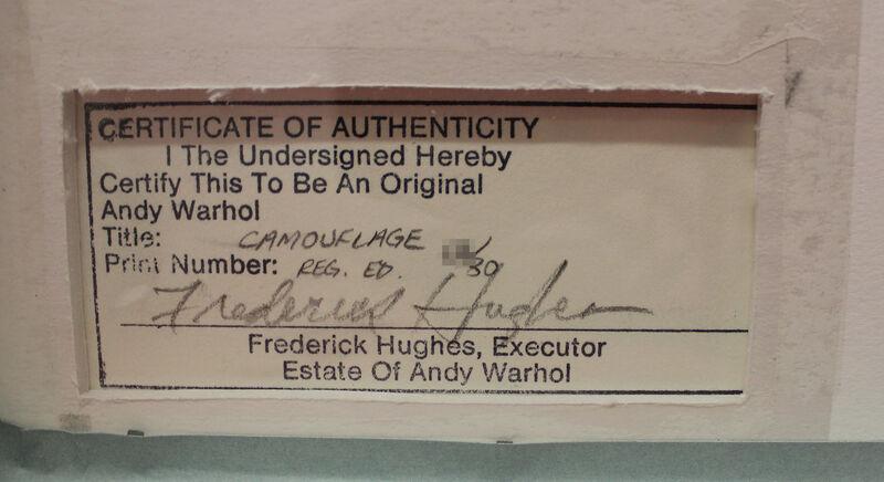 Andy Warhol, 'Camouflage (FS II.406)', ca. 1987, Print, Screenprint on Lenox Museum Board., Revolver Gallery