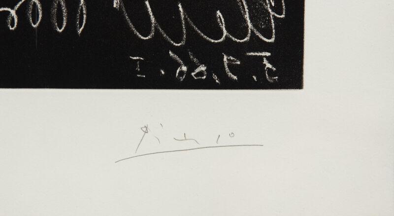 Pablo Picasso, 'Peintre a son chevalet avec deux femmes neus', 1966, Print, Etching and aquatint, Hindman