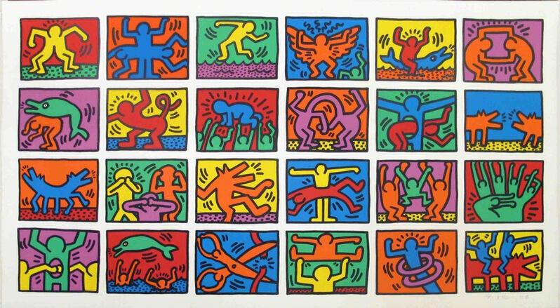Keith Haring, 'Retrospect', 1989, Print, Screenprint in colors, on heavy wove paper, Upsilon Gallery