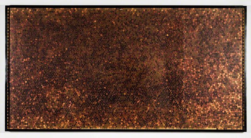C.K. Wilde, 'Spare', 2015, Mixed Media, Copper pennies, turmeric, polyvinyl adhesive, framed, Rosamund Felsen Gallery