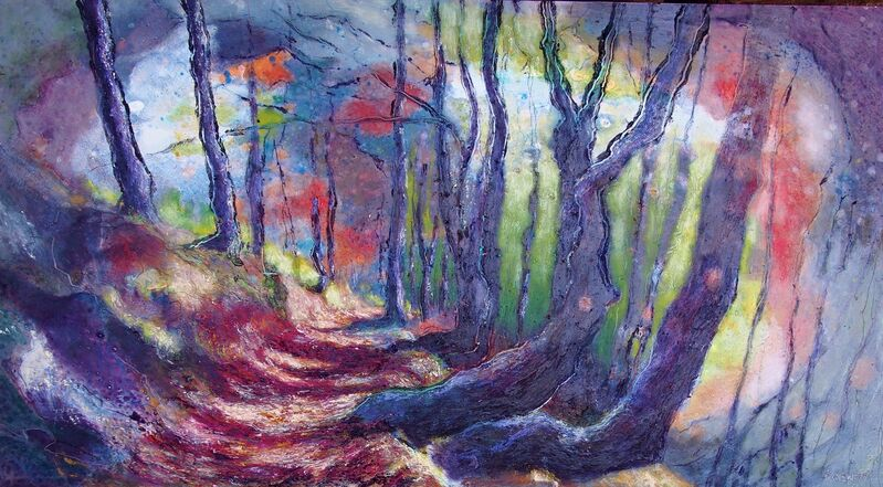 Andy Newman, 'Path in the Vercors 2', 2021, Painting, Oil on panel, Lily Pad West