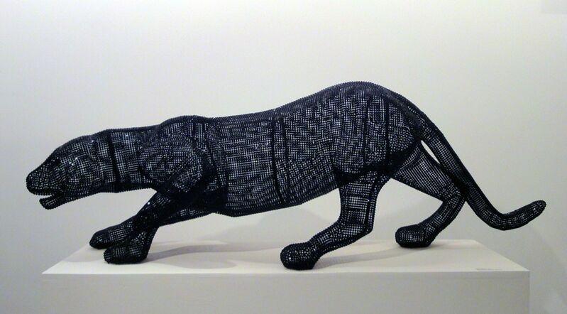 Nicola Bolla, 'Vanitas, Black Panther', 2009, Sculpture, Black Swarovski diamonds, Nohra Haime Gallery