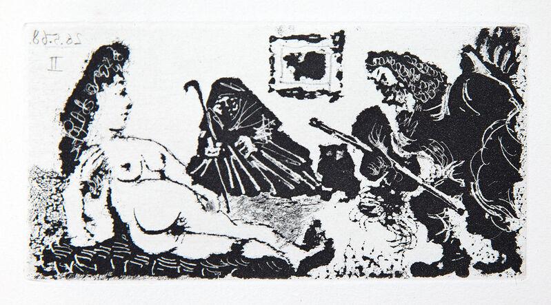 Pablo Picasso, 'Vieux Beau Saluant Trés Bas une Pupille de la Célestine', 1968, Print, Etching and aquatint, Goldmark Gallery