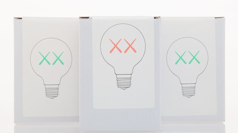 KAWS, 'Light Bulb Set (Red and Green), for The Standard (three works)', 2011, Other, Colored light bulb, Heritage Auctions