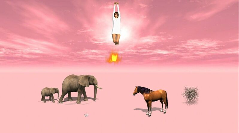 Petra Cortright, 'New_pink_sky_with_white_dress', 2015, Video/Film/Animation, Adobe flash animation, Depart Foundation