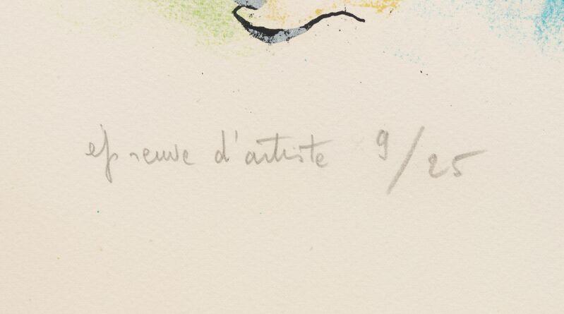 Marc Chagall, 'Amour est un dieu mes enfants (from Sur la terre des dieux)', 1967, Print, Color lithograph, Hindman