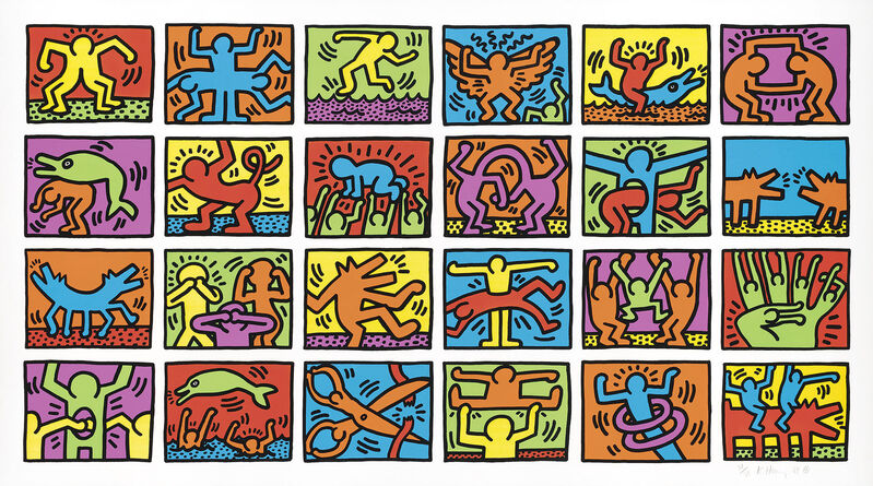 Keith Haring, 'RETROSPECT', 1989, Print, SILKSCREEN, Gallery Art