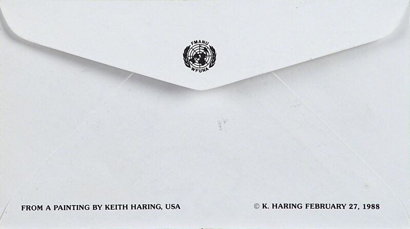 Keith Haring, 'Radiant baby on International Volunteer Day Envelope', 1988, Drawing, Collage or other Work on Paper, Black marker, Rago/Wright