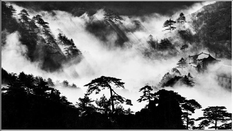 Wang Wusheng, 'Yellow Mountain (Huang Shan)', ca. 1990, Photography, Gelatin Silver Print, INTER ART CENTER / GALLERY