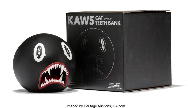 KAWS, 'Cat Teeth Bank (Black)', 2007, Sculpture, Painted cast vinyl, Heritage Auctions