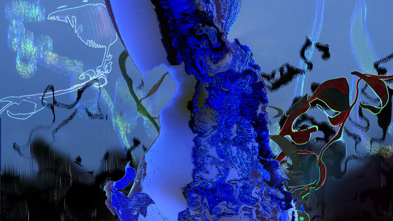 Sara Ludy, 'Untitled (Blue garden)', 2021, Video/Film/Animation, Video (color, silent), bitforms gallery