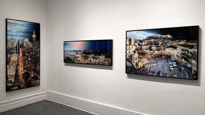 Andrew Prokos, 'Night & Day - View of the Acropolis from Monastiraki', 2017, Photography, Archival Pigment Print, Andrew Prokos Fine Art Photography
