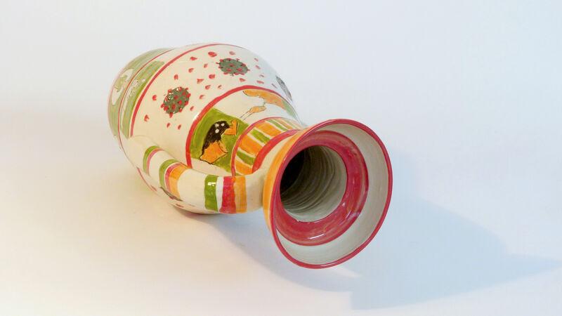 Polly Osborne, 'Covidian Amphora', 2020, Sculpture, Ceramc, Beatrice Wood Center for the Arts