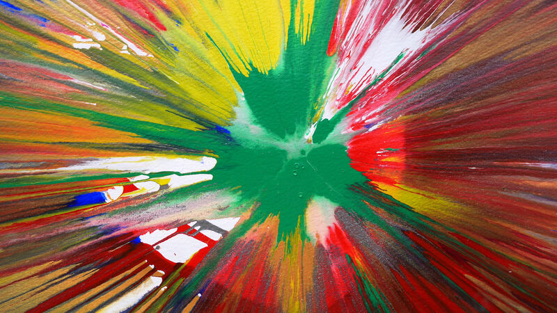 Damien Hirst, 'Planet (Original HAND SIGNED Spin Painting, authenticated by the Hirst Authentication Committee)', 2009, Painting, Acrylics on paper, Joseph Fine Art LONDON