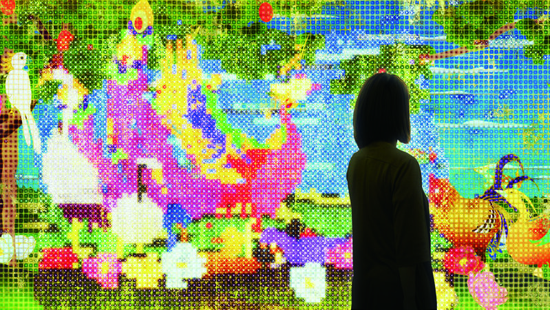 teamLab, 'United, Fragmented, Repeated and Impermanent World', Mizuma Art Gallery