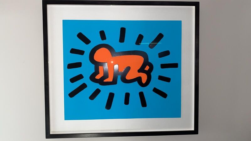 Keith Haring, 'Radiant Baby (from Icons Portfolio) RARE PRINTERS PROOF', 1990, Print, Silkscreen with embossing, Reuben Colley Fine Art
