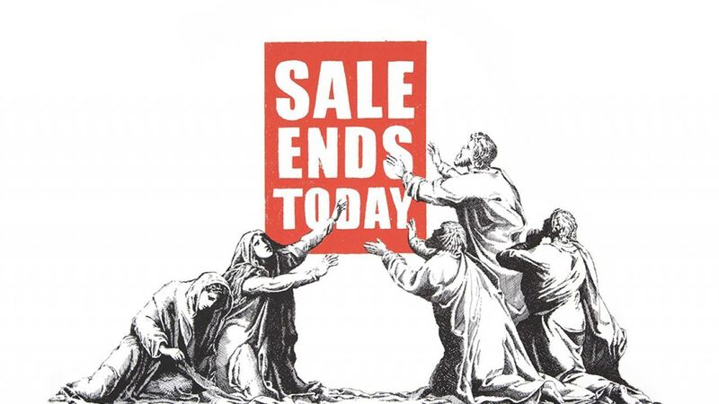 Banksy, 'Sale Ends (V.2)', 2017, Print, Signed and numbered from an edition of Screenprint in Colours on Wove Paper. 500 in pencil. Issued with a Certificate of Authenticity by Pest Control. Published by Pictures On Walls., HOFA Gallery (House of Fine Art)