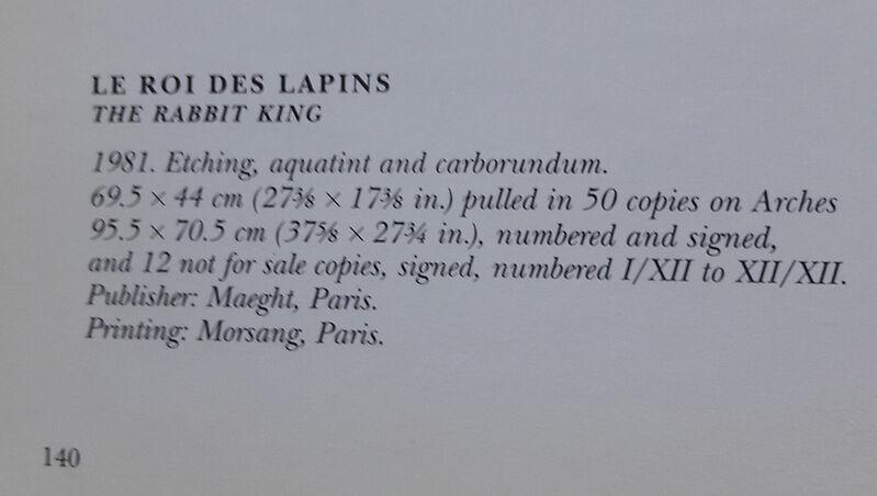 Joan Miró, 'Le roi des lapins (El rey de los conejos / The Rabbit King)', 1981, Print, Etching, aquatint and carborundum con Arches paper, Invertirenarte.es