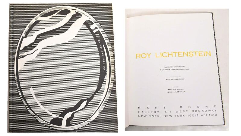 """Roy Lichtenstein, '""""The Mirror Paintings"""", Exhibition Catalogue, Mary Boone Gallery NYC, First Edition, RARE', 1989, Books and Portfolios, Lithograph on paper, cloth, VINCE fine arts/ephemera"""
