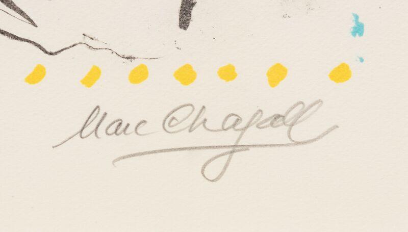 Marc Chagall, 'Tenderness', 1983, Print, Color lithograph, Hindman