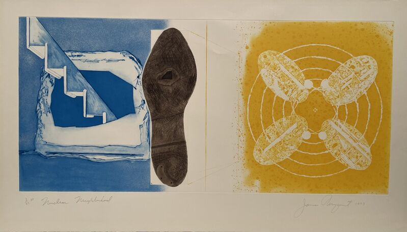 James Rosenquist, 'Nuclear Neighborhood', 1977, Print, Color Etching, Anders Wahlstedt Fine Art