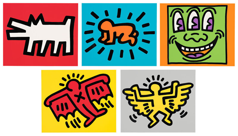 Keith Haring, 'Icons (Portfolio)', 1990, Print, Set of five silkscreens with embossing, Pace Prints
