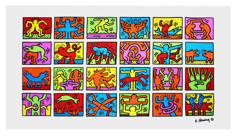 Keith Haring, 'Retrospect', 1989, Print, Offset lithograph, EHC Fine Art Gallery Auction