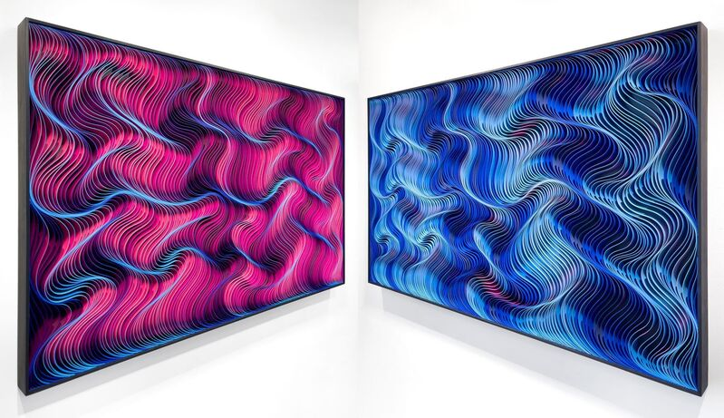 Stallman, 'Electric Indigo', 2021, Mixed Media, Sculpted canvas and acrylic, Eternity Gallery