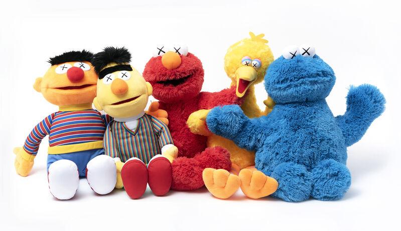 KAWS, 'Kaws Sesame Street', 2018, Sculpture, A complete set of five Plush Toys, Tate Ward Auctions
