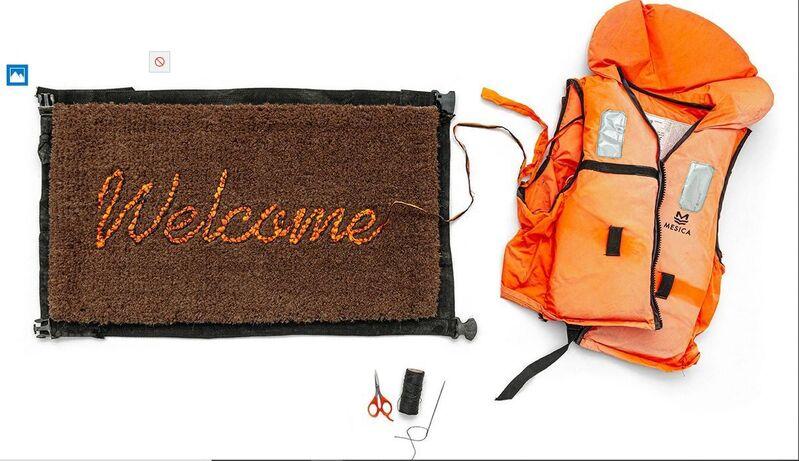 Banksy, 'WELCOME MAT life vest door mat', 2020, Ephemera or Merchandise, Door Mat, AYNAC Gallery