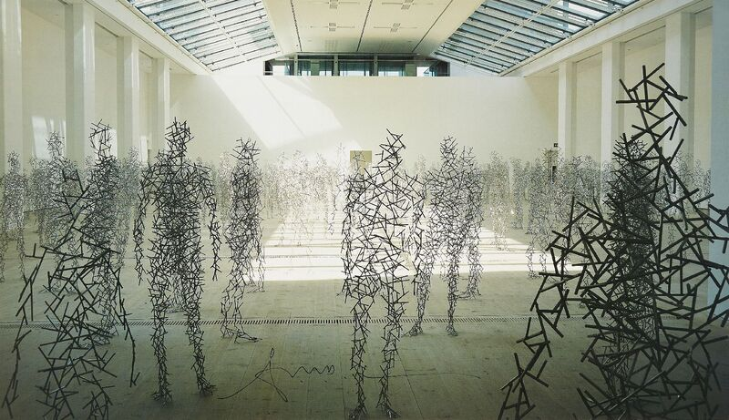 Antony Gormley, 'Domain Field', 2003, Posters, Offset lithographic poster in colours on thin wove, Roseberys