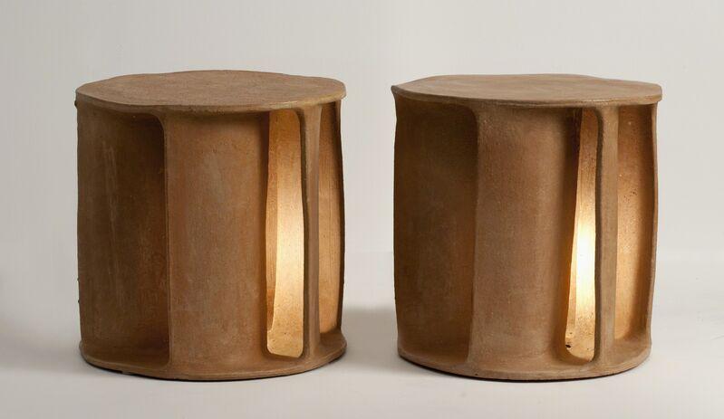 Guy Bareff, 'Pair of Illuminated Side Tables', 2014, Sculpture, Earthenware, Maison Gerard