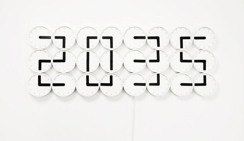 Humans Since 1982, 'ClockClock White', 2011, Design/Decorative Art, Victor Hunt Designart Dealer