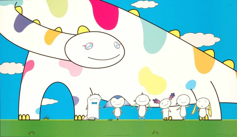 Takashi Murakami, 'Yoshiko and the Creatures from Planet 66', 2008, Print, Offset lithograph, Martin Lawrence Galleries