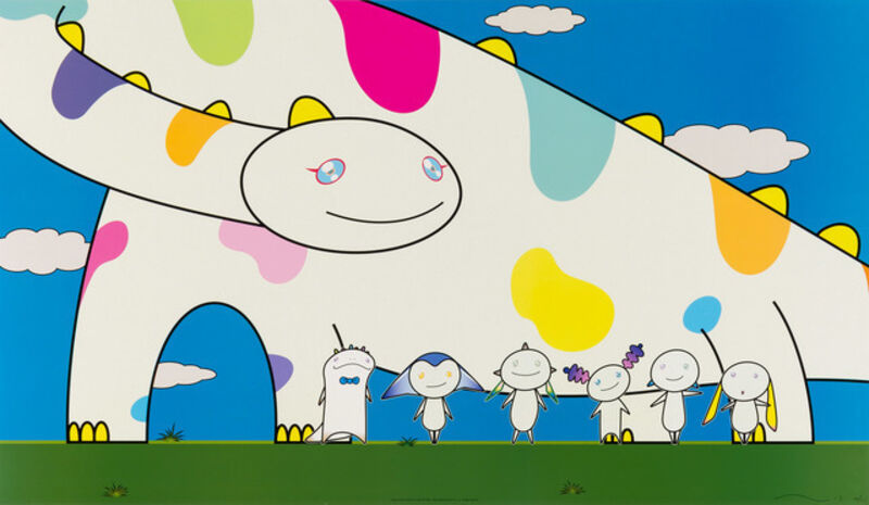 Takashi Murakami, 'Yoshiko and the creatures from Planet 66', 2003, Print, Offset Lithograph, Lougher Contemporary