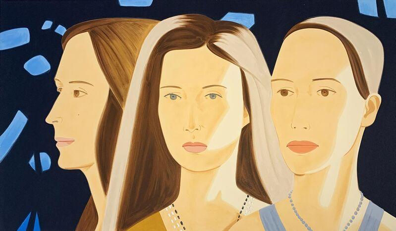 Alex Katz, 'Trio', 2017, Print, Silkscreen in thirty-six colors, Hamilton-Selway Fine Art