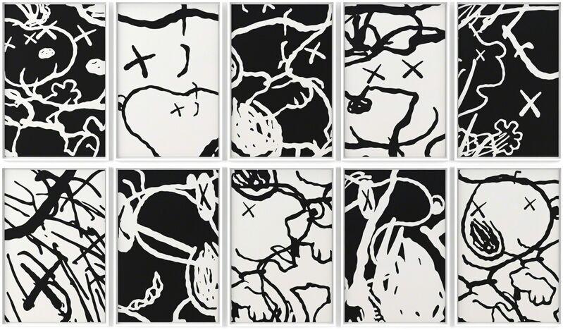 KAWS, 'Man's Best Friend', 2015, Print, Screenprint on Saunders Waterford 410gm High White Paper, Ross+Kramer Gallery