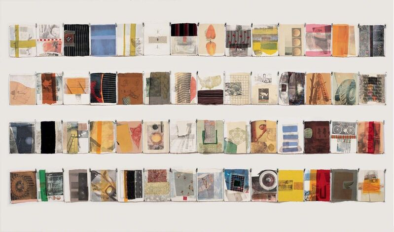 Robert Rauschenberg, 'Hiccups', 1978, Solvent transfer and fabric with metal zippers on 97 sheets of handmade paper, Robert Rauschenberg Foundation