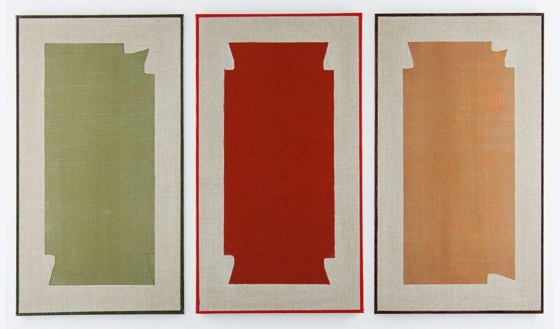 Stefano Cumia, 'Trittico #1 SCP Tov 3K + SCP Ro 4K + SCP Tob 4K', 2014, Painting, Egg tempera, oil, plaster pigment on linen, Rizzutogallery