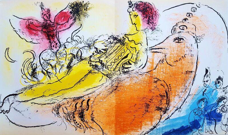Marc Chagall, 'The Accordionist', 1957, Print, Lithograph, Graves International Art