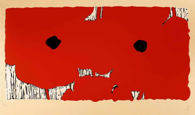 Donald Sultan, 'Red Poppies, July 24', 2012, Print, Serigraph with tar and flocking, Zane Bennett Contemporary Art