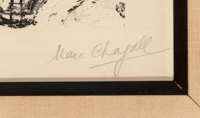 Marc Chagall, 'Menu pour une Réception sur le Bateau-Mouche, Paris', 1959, Print, Lithograph in colors on Arches paper, Heritage Auctions